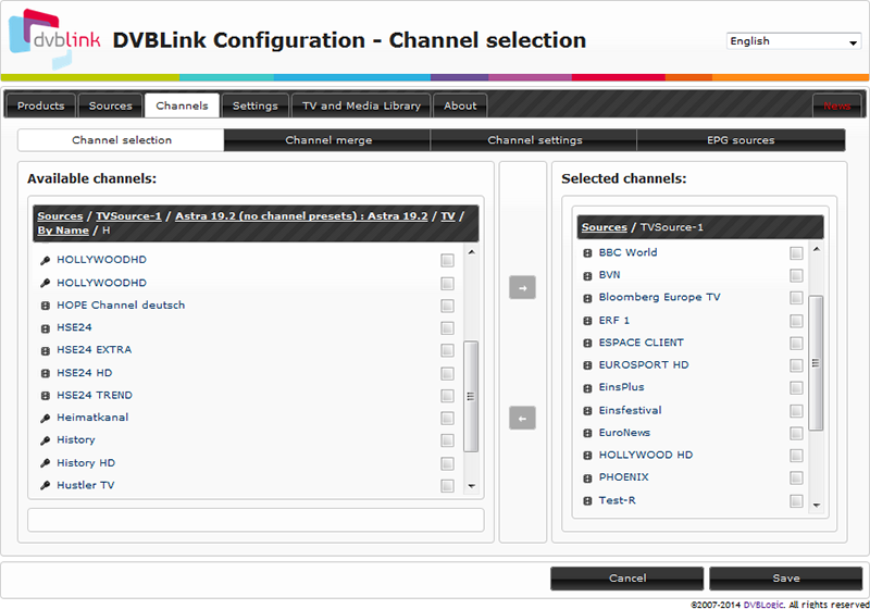 DVBLink TVSource