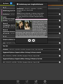 DVBLink iOS Client: Recorded TV list, sorted by name
