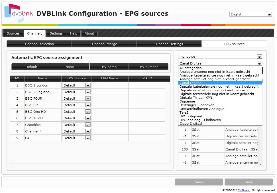 How to configure EPG sources - DVBLink wiki
