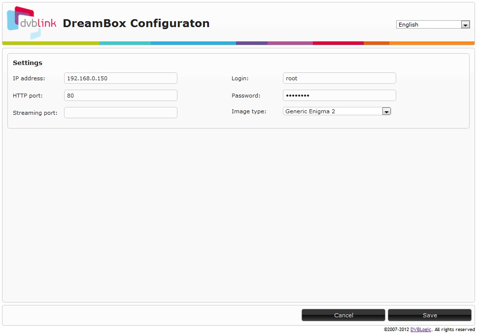DVBLink for Dreambox Installation and Configuration manual
