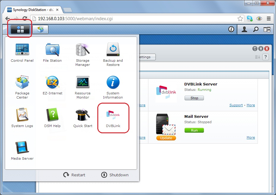 Installed on NAS Synology : What's next - Domoticz